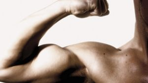 What are the symptoms of a torn bicep muscle?