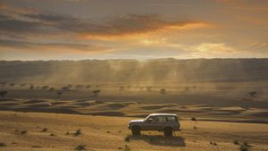 What technologies are used to explore deserts?