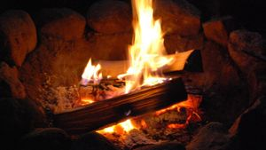 At what temperature does wood start to burn?