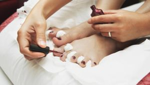 How do you polish your toenails?
