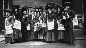 Why were women not allowed to vote?