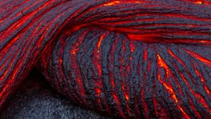 What is molten rock?