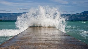 Where do tidal waves occur?
