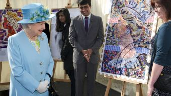 Why does the Queen face one way on stamps and the other on coins?