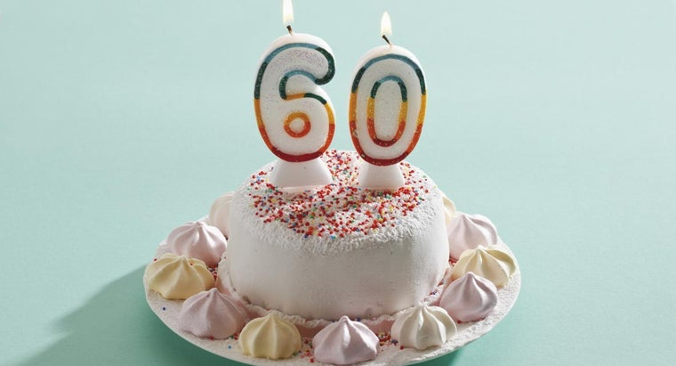 What Are Some 60th Birthday Colors?