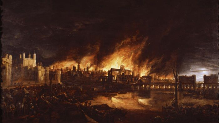 How many people died in the Great Fire of London?