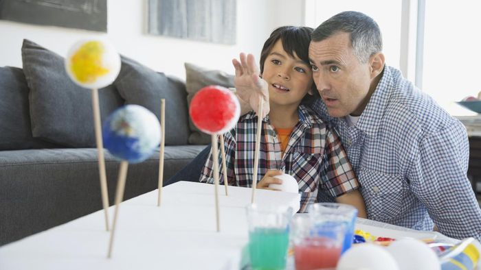 Where can you learn how to make a solar system model for kids?