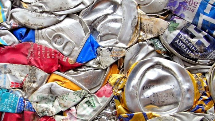 What aluminum items are recyclable?