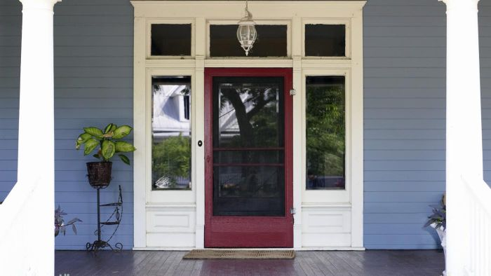 Where can front door panels be purchased?