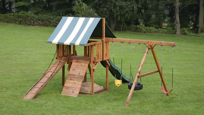 How Can One Build a Wooden Swing Set?