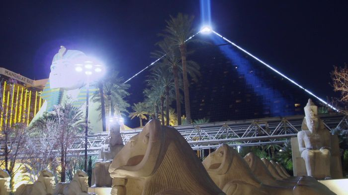 Can One See the Luxor Light From Space?