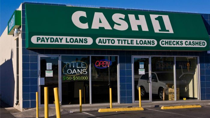 What is a check cashing store?