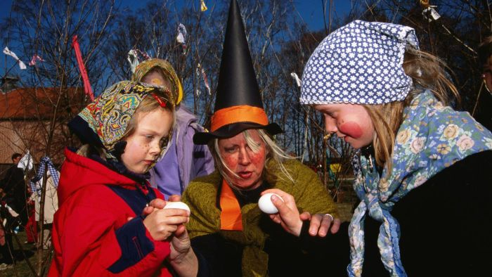Where Do Children Dress up As Witches for Easter?