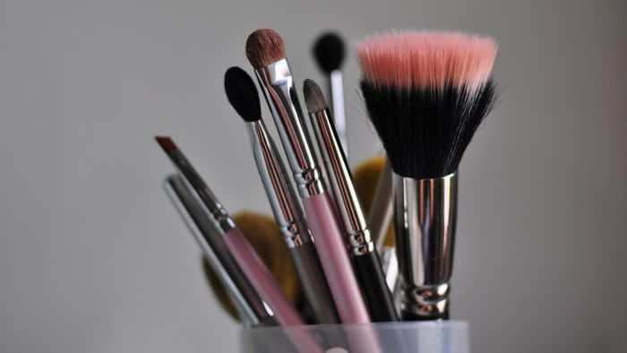 How do you clean makeup brushes at home?