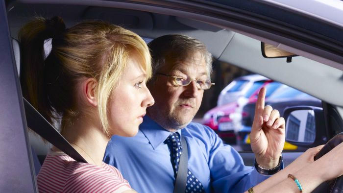 What are common driving test exam questions?