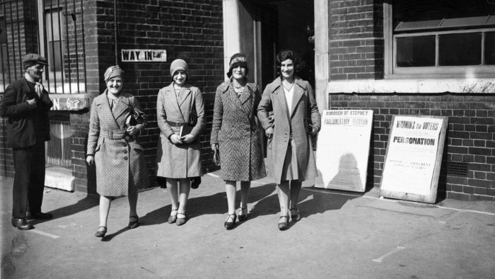 On what date did women get the right to vote?