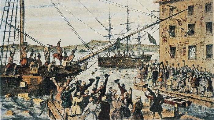 What Did American Colonists Use to Send a Forceful Message to Britain to Communicate Their Feelings About the Tea Act?