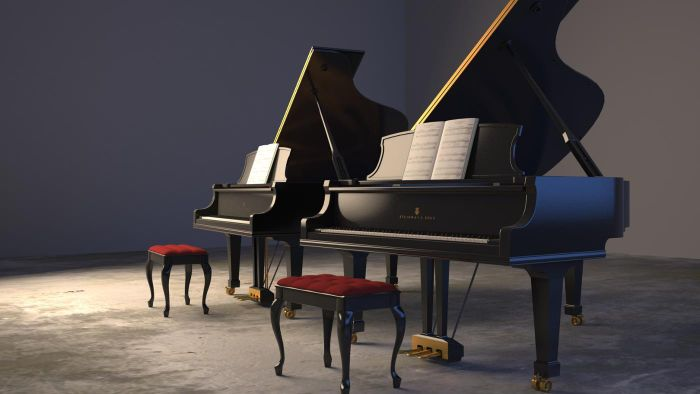 What are the dimensions of a baby grand piano?