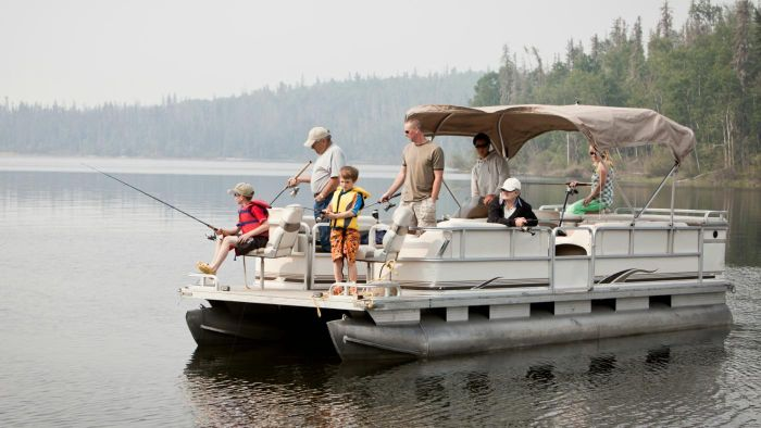What Are Fishing Pontoon Boats?