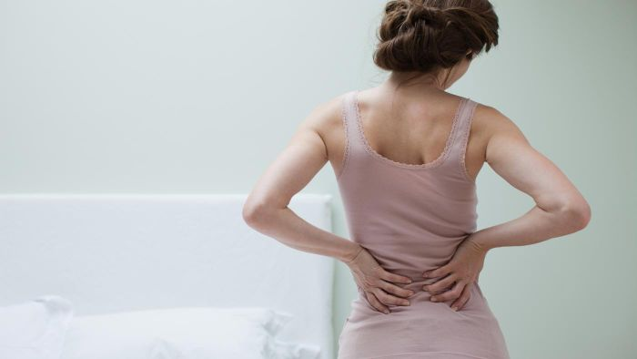 What gives relief for lower back pain?