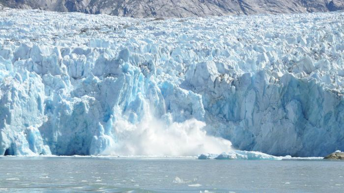 What is glacier calving?