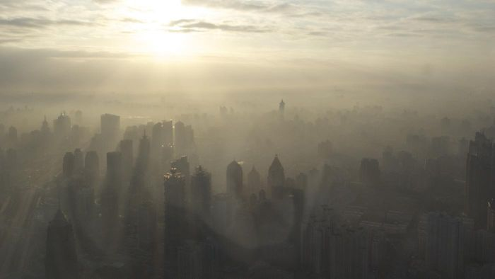 Is global warming caused by air pollution?