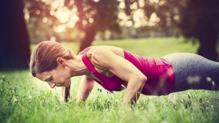 How many push-ups should someone do daily to get muscle definition?