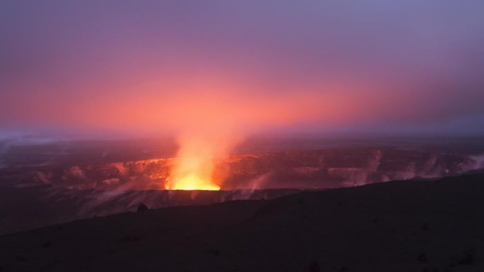 How many times has the Kilauea volcano erupted?