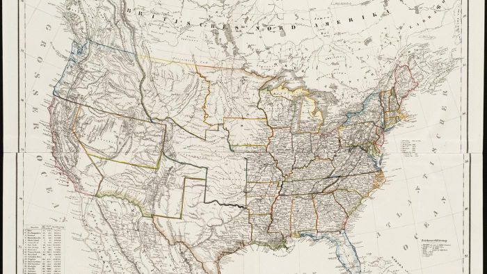 Where do you find interactive maps showing all 50 states in the United States?