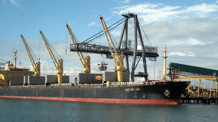 How long does it take a cargo ship to go from China to the United States?