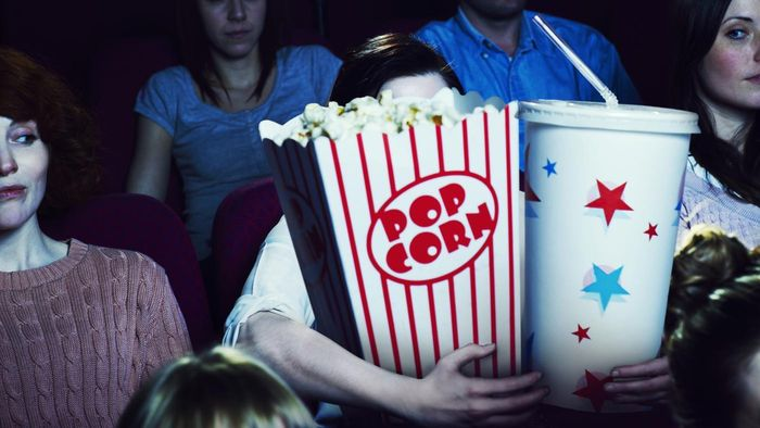 How many calories does movie popcorn have?