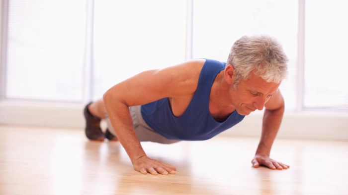How many consecutive push-ups should a 50 year old man be able to do?