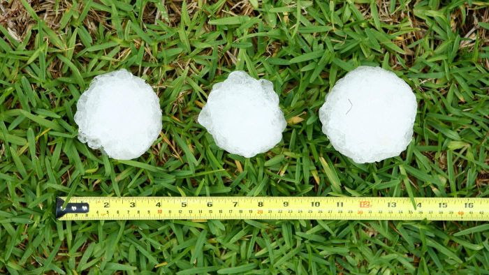How much did the largest hailstone weigh?