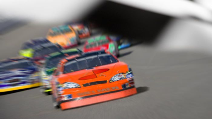 What is the top speed of NASCAR cars?