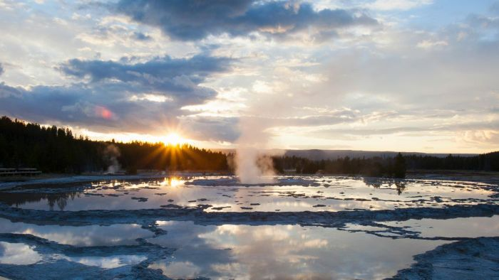Which park has the most geysers in the world?