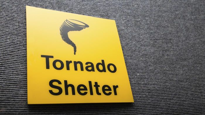 What part of the basement should you shelter in when a tornado is coming?