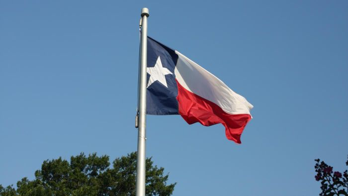 What is the proper way to salute the Texas flag?