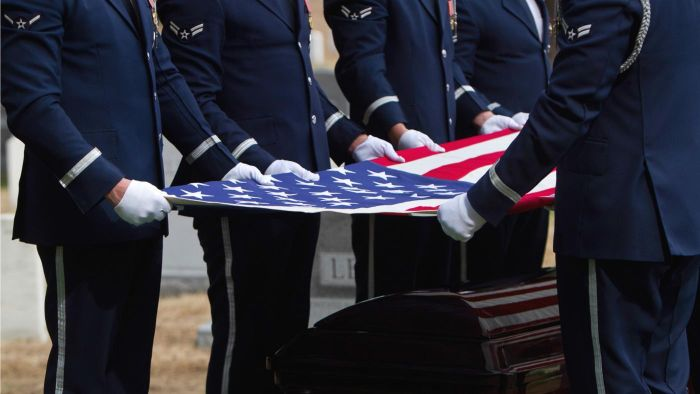 What Is the Protocol for the Flag Presentation During a Military Funeral?
