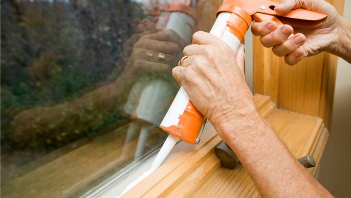 How do you remove caulk from your hands?