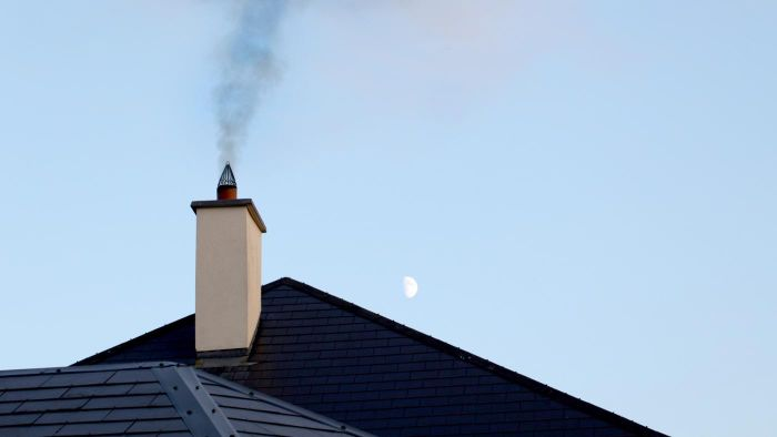 What does repointing a chimney involve?