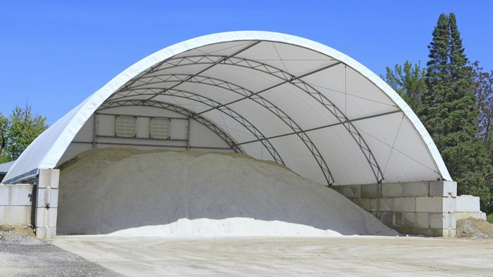 Why Are Rock Salt Storage Facilities Dome-Shaped?