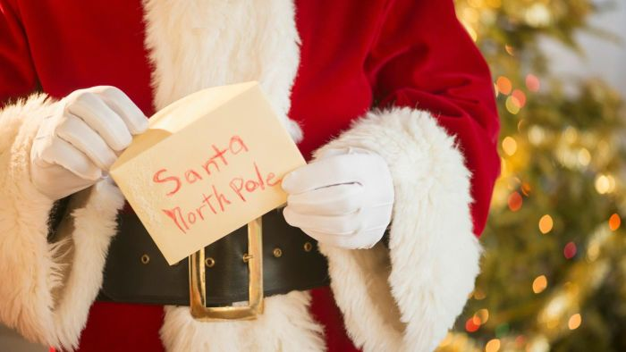 What is Santa Claus' address at the North Pole?