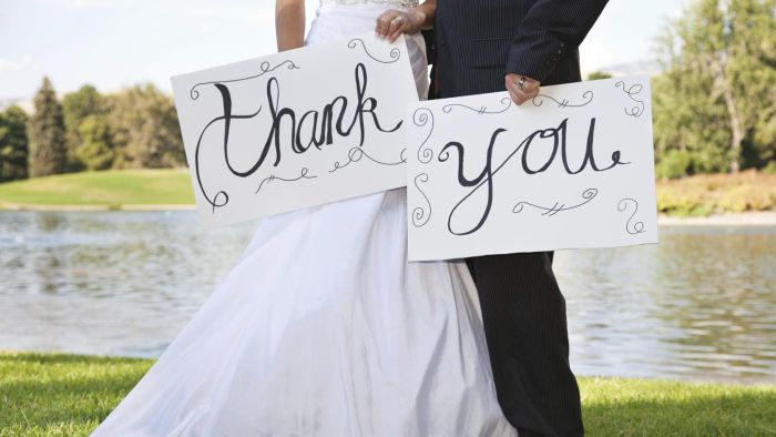 How Should I Word Thank-You Notes for Attending My Wedding?