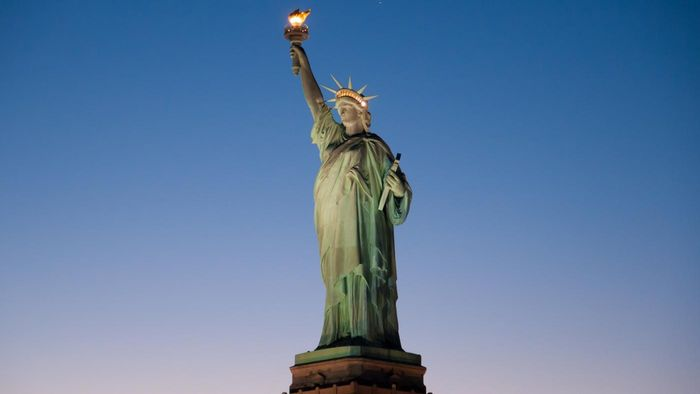 What is the Statue of Liberty made of?