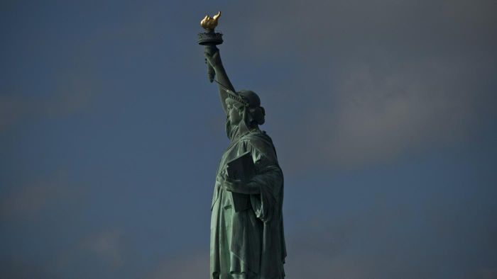 What was the Statue of Liberty's original color?