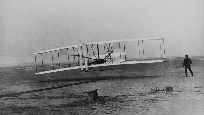 How long did the first flight last?