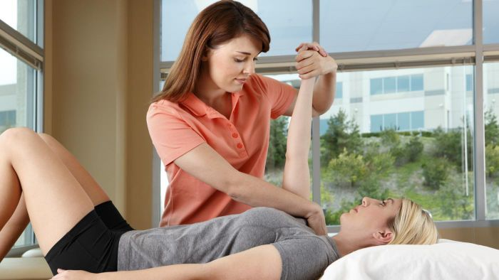 What is the treatment for a torn rotator cuff?