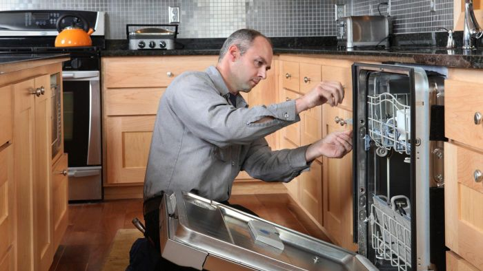 How do you troubleshoot a KitchenAid dishwasher that is not turning on?