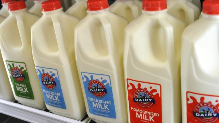 What is vitamin A palmitate in milk?