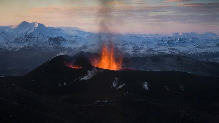 How are volcanic mountains formed?